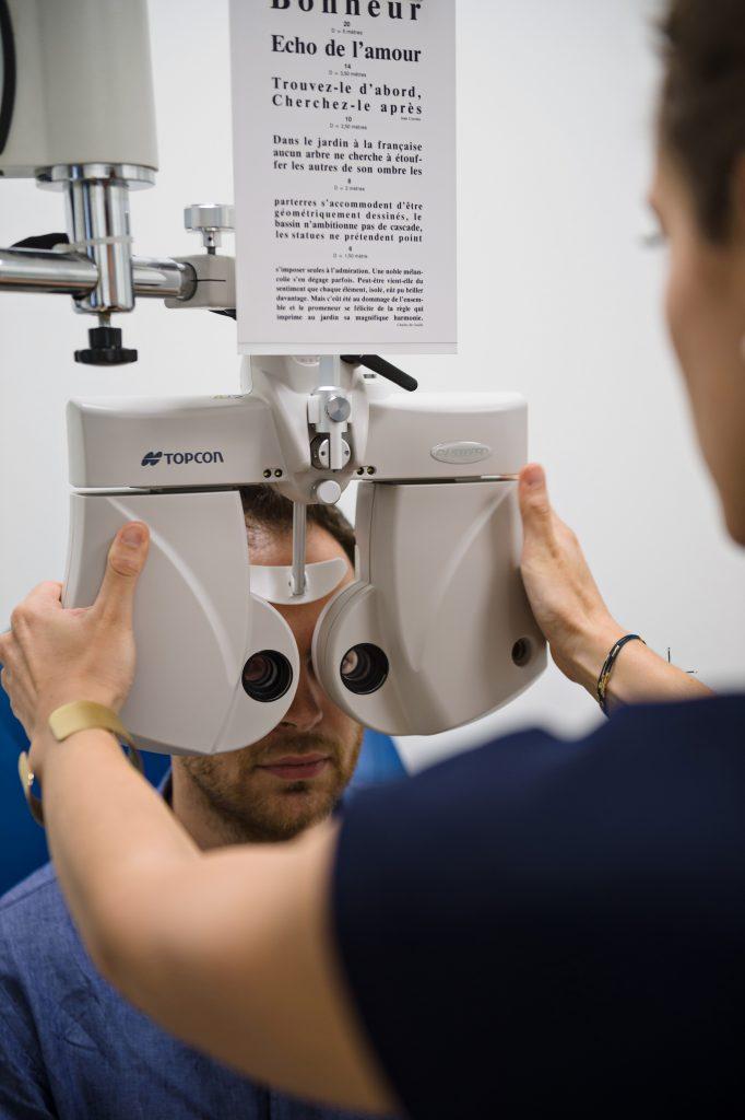 Test oculaire au Parc Laser Vision
